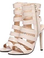 Scarpe Donna-Sandali-Serata e festa-Tacchi-A stiletto-Finta pelle-Tessuto almond