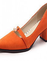 Women's Shoes Leatherette Chunky Heel Heels Heels Outdoor / Office & Career / Dress Black / Blue / Gray / Orange