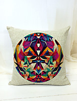 Novelty Printing Pattern Linen Pillowcase Sofa Home Decor Cushion Cover (18*18inch)