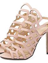 Women's Shoes Fleece Summer Heels Party & Evening Stiletto Heel Buckle Black / Almond