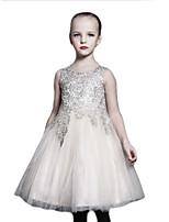 Girl's Dress,Cotton Winter Gray