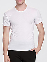 Men's Short Sleeve T-Shirt,Cotton Casual Solid 916043