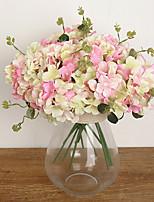 Three Heads Silk Hydrangea Artificial Flowers Wedding Flowers Multicolor Optional 1pc/set