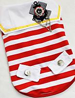 Hunde T-shirt / Kleidung / Kleidung Rot / Schwarz Winter / Sommer / Frühling/Herbst Klassisch / StreifenHochzeit / Weihnachten / Valentin