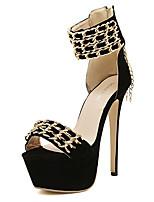 Women's Sandals Summer Sandals Fleece Casual Stiletto Heel Others Black Others