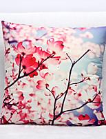 3D Plum Flower Pattern Velvet Pillowcase Sofa Home Decor Cushion Cover (18*18inch)