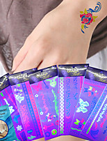 6Pcs Temporary Tattoo Sexy Female Body Art Tattoo Makeup Tattoo Fashion Bracelets Bracelets Fluorescence Sticker