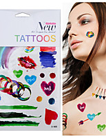 Ink Painting Temporary Tattoo Colorful Graffiti Tattoos Tatuagem Club Musical Beach For Body Art