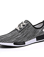 Men's Shoes Outdoor / Office & Career / Athletic / Casual PU / Tulle Fashion Sneakers / Athletic Shoes Blue / Red / Gray
