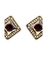 Super Retro Palace Lots Colors Square Alloy Stud Earrings for Vintage Women