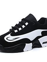 Women's Shoes Fleece Flat Heel Comfort Flats Athletic Black / Black and White