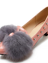 Women's Shoes Leatherette Stiletto Heel Heels Heels Outdoor / Office & Career / Dress Black / Pink / Gray