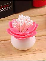 cure-dents de lotus boîte porte-coton-tige vase chambre de décoration