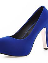Zapatos de mujer-Tacón Stiletto-Tacones-Tacones-Oficina y Trabajo / Vestido / Casual / Fiesta y Noche-Semicuero-Negro / Azul / Gris