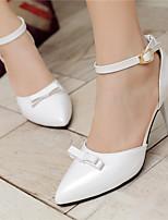 Zapatos de mujer-Tacón Stiletto-Tacones / Puntiagudos-Tacones-Vestido / Casual / Fiesta y Noche-Cuero Patentado-Negro / Rosa / Rojo /