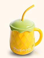 créatif paille style melon Hami mignon tasse en céramique tasse