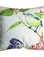 New Design Print Green Branch Birds Decorative Throw Pillow Case Cushion Cover for Sofa Home Decor Soft Material