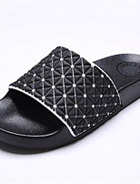 Zapatos de Hombre-Pantuflas-Casual-Semicuero-Negro / Blanco