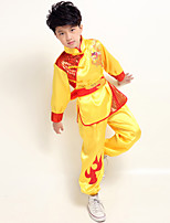 Performance Outfits Children's Performance Satin Sash/Ribbon 3 Pieces Blue / Red / Yellow Folk Dance Long Sleeve