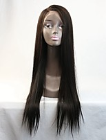 Wholesale 100% Malaysian Long Black Straight C Part Virgin Hair Full Lace Wig