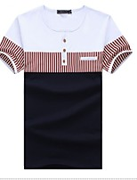 Men's Short Sleeve T-Shirt,Cotton Casual Patchwork