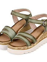 Women's Shoes Leatherette Summer Creepers Outdoor / Casual Platform Buckle Green / White