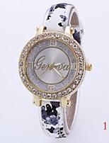 Жен. Модные часы Имитационная Четырехугольник Часы Кварцевый Кожа Группа Разноцветный