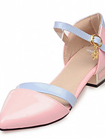 Women's Shoes Leatherette Chunky Heel Heels Heels Outdoor / Office & Career / Party & Evening Blue / Pink / White