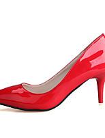 Calçados Femininos-Saltos-Saltos-Salto Agulha-Preto / Rosa / Vermelho-PU-Casual