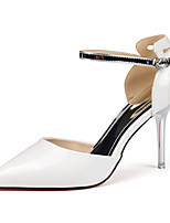 Women's Shoes Patent Leather Stiletto Heel Heels Heels Party & Evening / Dress / Casual Black / White