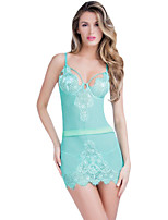 Acid Blue Eyelash Lace Chemise