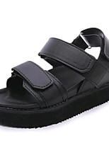 Women's Shoes Leatherette Summer Creepers Outdoor / Casual Platform Buckle Black / White