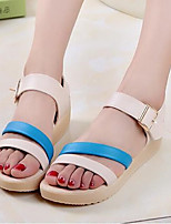 Women's Shoes Student Patent Leather Platform Comfort / Round Toe Sandals Outdoor / Casual Blue / Fuchsia