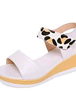 Women's Shoes Leatherette Summer Creepers Outdoor / Casual Platform Buckle White / Beige