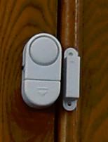 puerta magnética y ventana ventanas de alarma de seguridad detectores sensoriales de pequeño tamaño