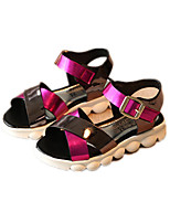 Girls' Shoes Dress / Casual Comfort Leatherette Sandals Blue / Green / Red