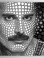 People Freddie Mercury Circle Portrait by Ben Heine Canvas Print From Ready to Hang 7 Wall Arts®
