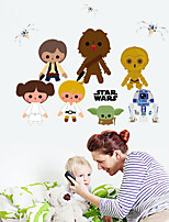 Bande dessinée / Mode Stickers muraux Stickers avion,PVC 48*60 cm(18.9*23.6 inch)