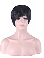 Fashion Lady Black Capless Short Straight Hair Synthetic Wig