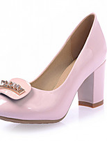 Women's Shoes Leatherette Chunky Heel Heels Heels Outdoor / Office & Career / Dress Black / Blue / Pink / Beige