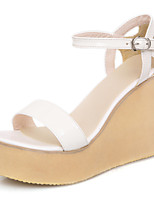 Women's Shoes Wedges Heels/Platform Sandals Party & Evening/Dress Green/White/Almond
