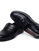 Men's Shoes PU Office & Career / Casual / Party & Evening Oxfords Office & Career / Casual / Party & Evening Low Heel Hollow-out Black