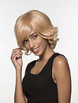 charmante excellente longs ondulés main remy de cheveux humains attachés perruques de femme -top