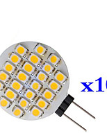 0.9W 1210 24 SMD Warm White Circular LED Lamp G4 (DC 12 V,10pcs)