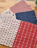 6pcs napperons pack de tissu de coton modèle de mode lavable 11.8