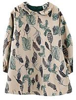 Girl's Brown Dress Polyester Winter