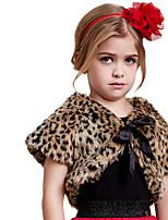 Girl's Animal Print Jacket & Coat,Animal Print Faux Fur Spring / Fall