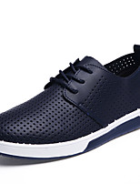 Men's Shoes Casual Leather Fashion Sneakers Black / Blue / White