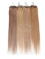Neitsi 100% Human Hair Extensions Micro Ring Loops Hair 16 inch 25 Strands