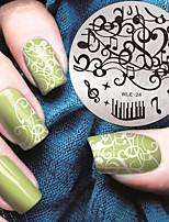 2016 Latest Version Fashion Pattern Music Note Nail Art Stamping Image Template Plates
